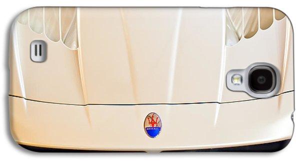 Transportation Photographs Galaxy S4 Cases - 2005 Maserati MC12 Hood Emblem Galaxy S4 Case by Jill Reger