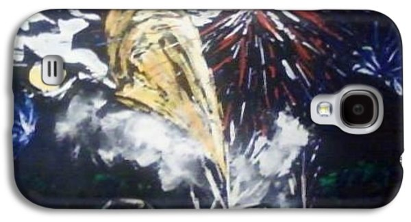 4th July Paintings Galaxy S4 Cases - 2012 Harrisonville fireworks Galaxy S4 Case by Patricia Olson
