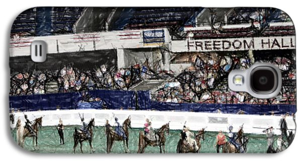 Americans Tapestries - Textiles Galaxy S4 Cases - 2013-a World Championship Horse Show - Louisville KY Galaxy S4 Case by Thia Stover