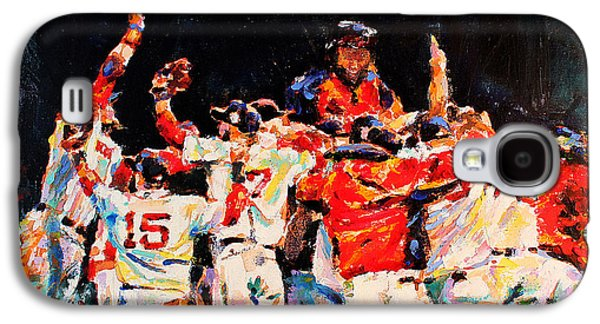 Red Sox Paintings Galaxy S4 Cases - 2013 Boston Red Sox World Series Champions Galaxy S4 Case by Derek Russell