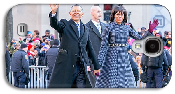 Michelle Obama Galaxy S4 Cases - 2013 Inaugural Parade Galaxy S4 Case by Ava Reaves