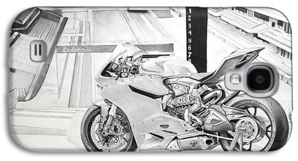 Suspension Drawings Galaxy S4 Cases - 2014 1199 Ducati Panigale Galaxy S4 Case by Gary Reising