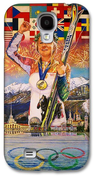 Skiing Posters Paintings Galaxy S4 Cases - 2014 Sochi Winter Olympics Galaxy S4 Case by Sean OConnor