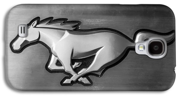 Transportation Photographs Galaxy S4 Cases - 2015 Ford Mustang Prototype Emblem -0287bw Galaxy S4 Case by Jill Reger