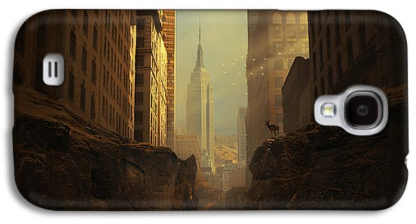 New York City Digital Art Galaxy S4 Cases - 2146 Galaxy S4 Case by Michal Karcz