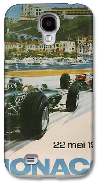 Race Galaxy S4 Cases - 24th Monaco Grand Prix 1966 Galaxy S4 Case by Nomad Art And  Design