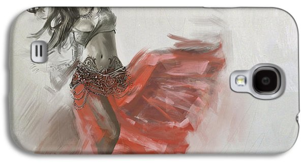 Moroccan Galaxy S4 Cases - Belly Dancer 4 Galaxy S4 Case by Corporate Art Task Force