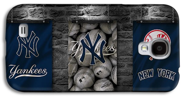Uniform Galaxy S4 Cases - New York Yankees Galaxy S4 Case by Joe Hamilton