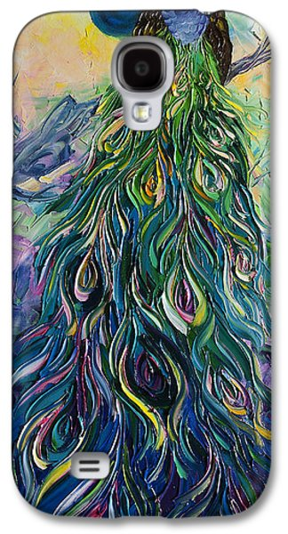Print On Canvas Galaxy S4 Cases - Peacock Galaxy S4 Case by Willson Lau