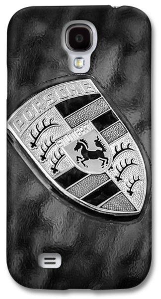 Transportation Photographs Galaxy S4 Cases - Porsche Emblem Galaxy S4 Case by Jill Reger