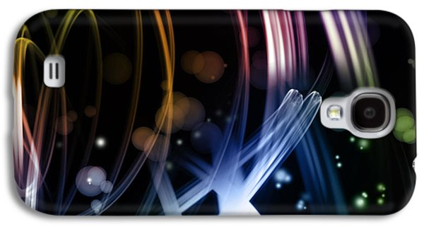Swirly Galaxy S4 Cases - Abstract background Galaxy S4 Case by Les Cunliffe