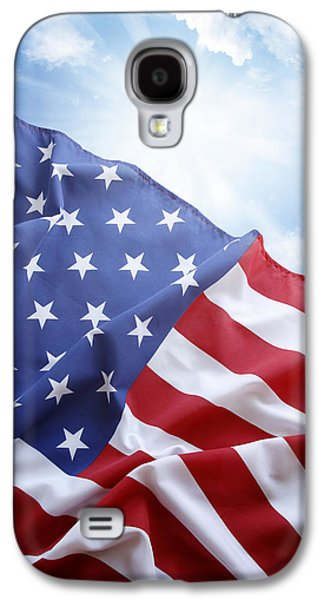 American Flag Galaxy S4 Case by Les Cunliffe
