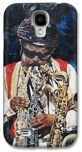 Night Sky Paintings Galaxy S4 Cases - 285  Rahsaan Roland Kirk  Galaxy S4 Case by Sigrid Tune