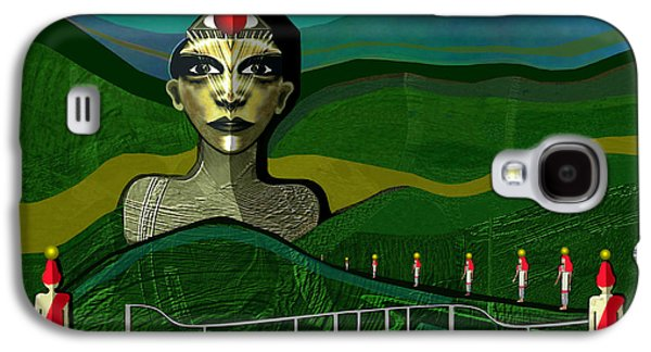 Sombre Galaxy S4 Cases - 293 -  Appearance of a new sphinx  Galaxy S4 Case by Irmgard Schoendorf Welch