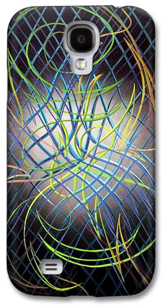 Curvilinear Paintings Galaxy S4 Cases - 2D 4th D Galaxy S4 Case by Thomas Pettit