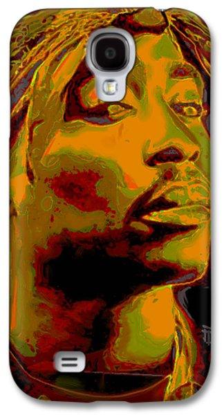 Shirt Digital Art Galaxy S4 Cases - 2pac  Galaxy S4 Case by  Fli Art