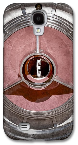Pacers Galaxy S4 Cases - 1958 Edsel Pacer Convertible Wheel Emblem Galaxy S4 Case by Jill Reger