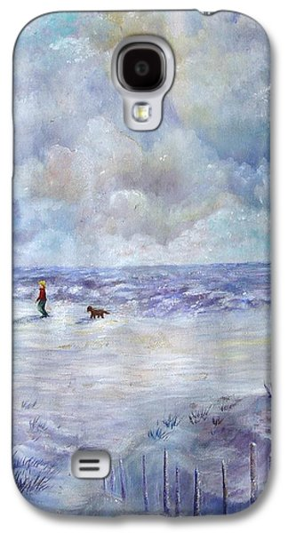 Water Dogs Mixed Media Galaxy S4 Cases - 34th St. Beach Galaxy S4 Case by Loretta Luglio