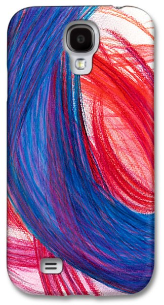 Abstract Movement Drawings Galaxy S4 Cases - A Passionate Intuition Galaxy S4 Case by Kelly K H B