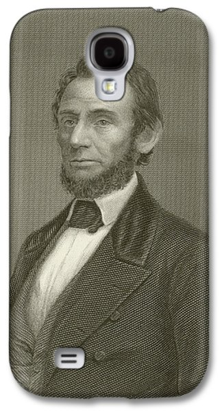 Historical Figures Galaxy S4 Cases - Abraham Lincoln Galaxy S4 Case by English School