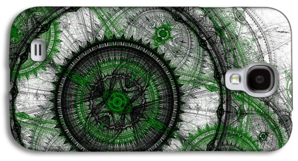 Abstract Digital Art Galaxy S4 Cases - Abstract mechanical fractal Galaxy S4 Case by Martin Capek
