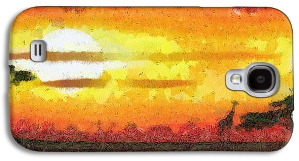 Sunset Abstract Galaxy S4 Cases - Africa sunset Galaxy S4 Case by Michal Boubin
