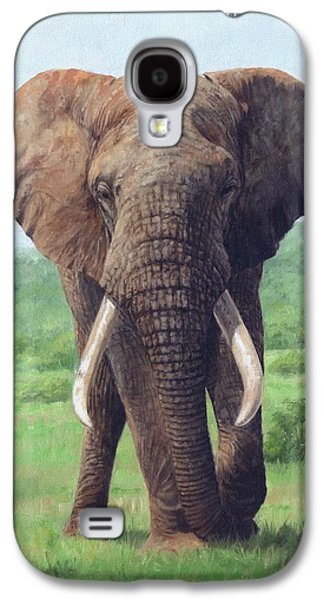 African Elephant Galaxy S4 Case by David Stribbling