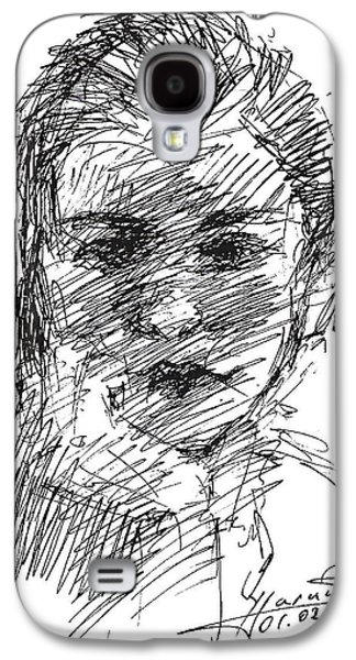 Head Drawings Galaxy S4 Cases - Ana Galaxy S4 Case by Ylli Haruni