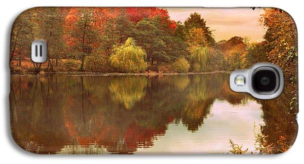 Autumn Landscape Digital Art Galaxy S4 Cases - Autumns Mirror Galaxy S4 Case by Jessica Jenney