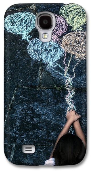 Floating Girl Galaxy S4 Cases - Balloons Galaxy S4 Case by Joana Kruse