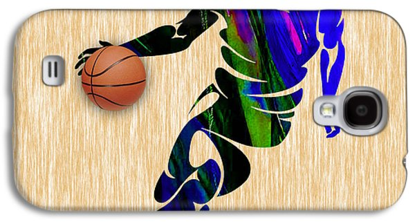 Basketball Galaxy S4 Cases - Basketball Galaxy S4 Case by Marvin Blaine