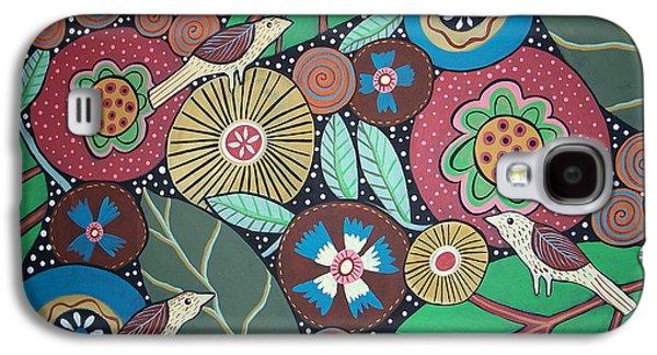 Botanical Galaxy S4 Cases - 3 Bird Botanical Galaxy S4 Case by Karla Gerard