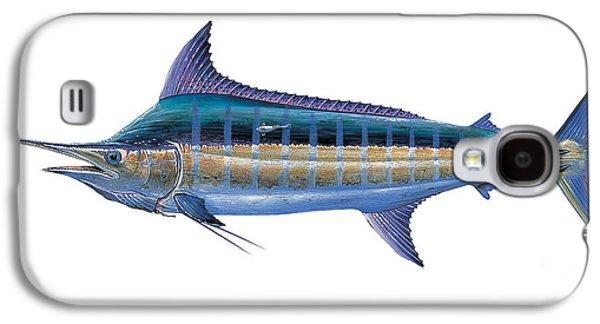 Marlin Azul Galaxy S4 Cases - Blue Marlin Galaxy S4 Case by Carey Chen