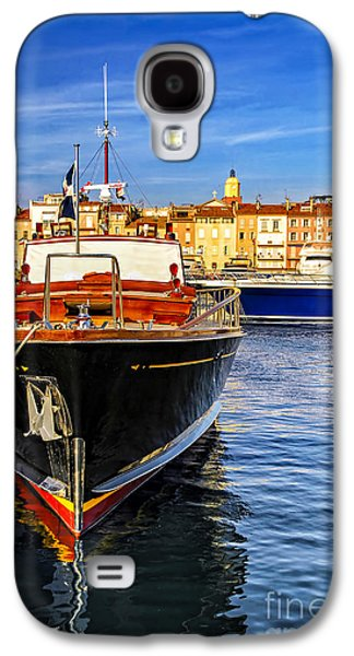 Yacht Galaxy S4 Cases - Boats at St.Tropez Galaxy S4 Case by Elena Elisseeva