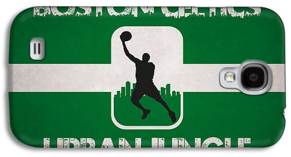 Boston Celtics Galaxy S4 Cases - Boston Celtics Galaxy S4 Case by Joe Hamilton