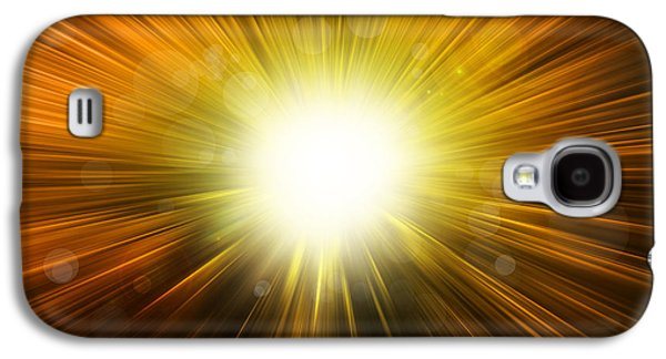 Exploding Galaxy S4 Cases - Bright background  Galaxy S4 Case by Les Cunliffe