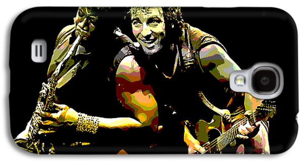 Bruce Springsteen Mixed Media Galaxy S4 Cases - Bruce Springsteen Clarence Clemons Galaxy S4 Case by Marvin Blaine
