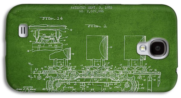 Machinery Galaxy S4 Cases - Caterpillar Drive Chain patent from 1952 Galaxy S4 Case by Aged Pixel