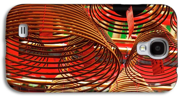 China, Hong Kong, Spiral Incense Sticks Galaxy S4 Case by Terry Eggers