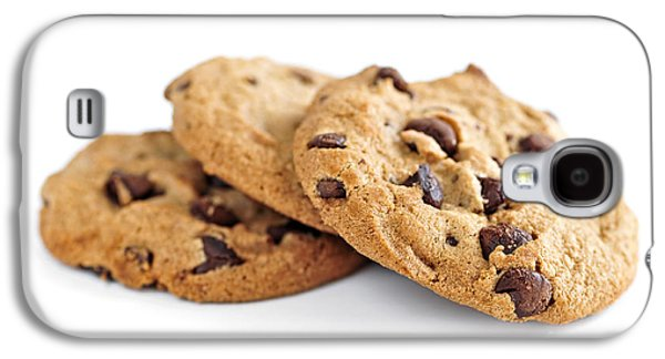Chip Galaxy S4 Cases - Chocolate chip cookies Galaxy S4 Case by Elena Elisseeva