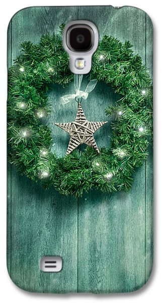 Celebration Galaxy S4 Cases - Christmas Garland Galaxy S4 Case by Amanda And Christopher Elwell