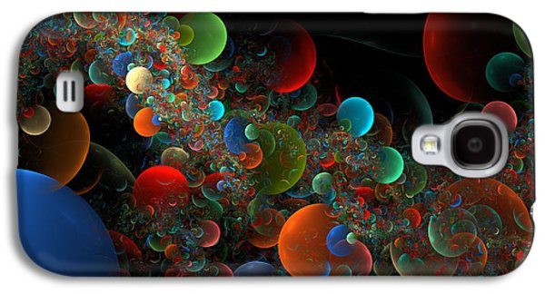 Scientific Galaxy S4 Cases - Computer Generated Planet Spheres Abstract Fractal Flame Modern art Galaxy S4 Case by Keith Webber Jr