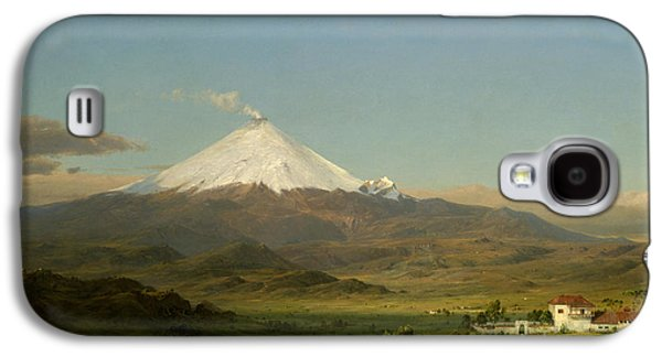 Steer Paintings Galaxy S4 Cases - Cotopaxi Galaxy S4 Case by Frederic Edwin Church