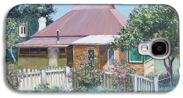 Garden Scene Galaxy S4 Cases - Country Cottage Galaxy S4 Case by Jan Matson