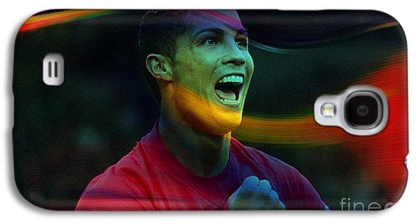 Cristiano Ronaldo Galaxy S4 Case by Marvin Blaine
