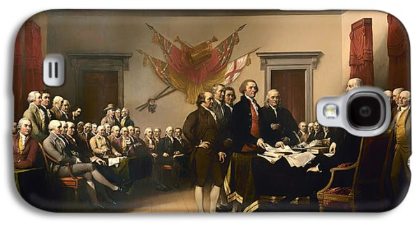 American Revolution Paintings Galaxy S4 Cases - Declaration of Independence Galaxy S4 Case by John Trumbull