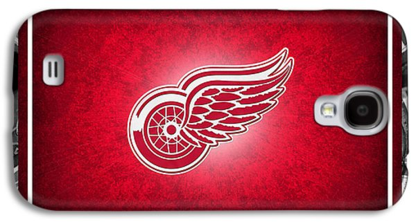 Hockey Photographs Galaxy S4 Cases - Detroit Red Wings Galaxy S4 Case by Joe Hamilton