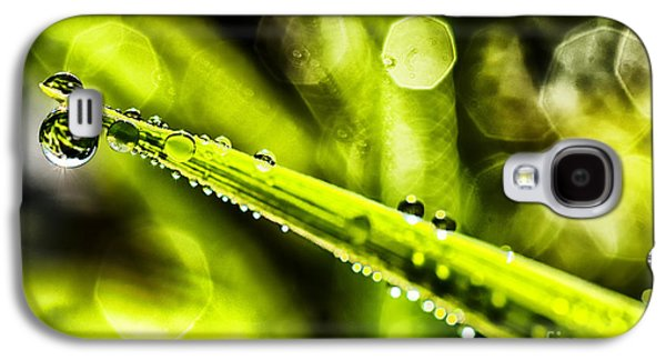 Aperture Photographs Galaxy S4 Cases - Dew on Grass Galaxy S4 Case by Thomas R Fletcher