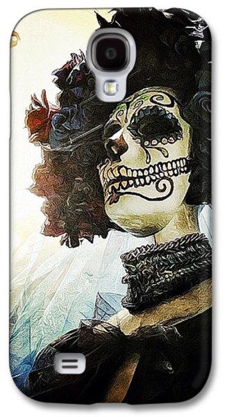 Creepy Digital Art Galaxy S4 Cases - Dia de los Muertos Galaxy S4 Case by Natasha Marco