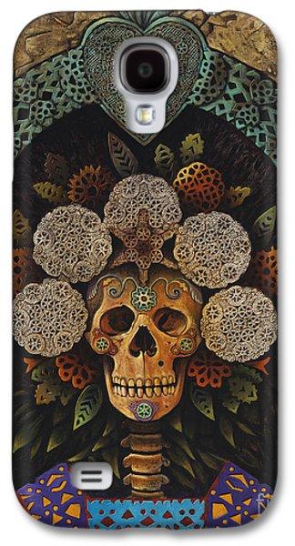 Religious Galaxy S4 Cases - Dia De Muertos Madonna Galaxy S4 Case by Ricardo Chavez-Mendez